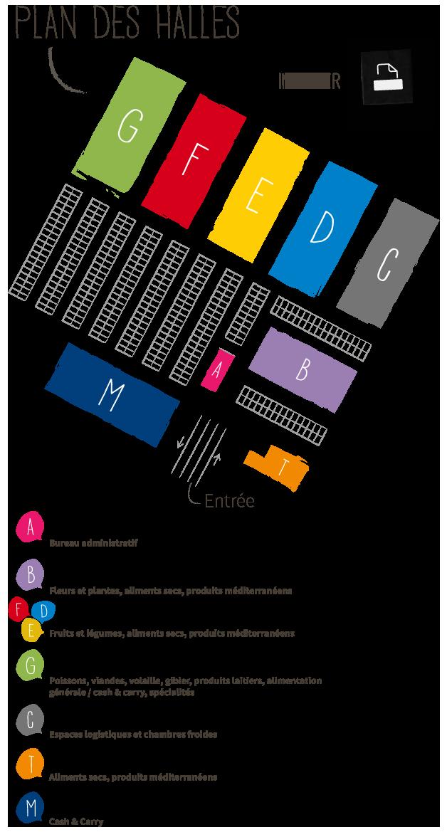 Imprimer le plan des halles