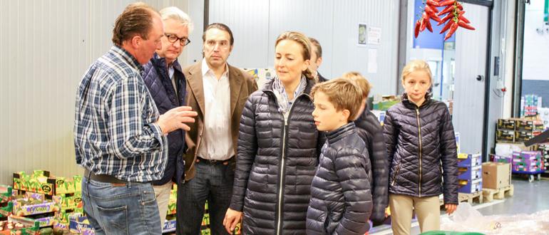 Familiebezoek van prins Laurent, prinses Claire en hun kinderen