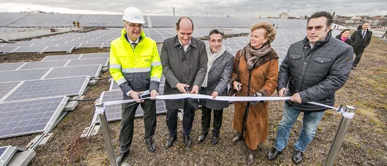 Inauguration de la plus grande installation de panneaux photovoltaïques de Bruxelles