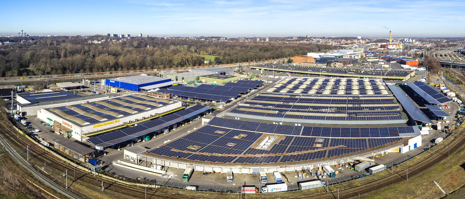 Inhuldiging van de eerste zonneparking van België